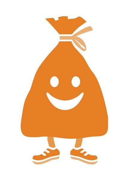 putz-munter Maskottchen_orange